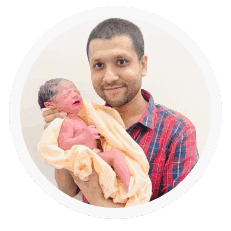 Baby delivered after the 3rd attempt of microTESE and ICSI - Shree IVF Clinic
